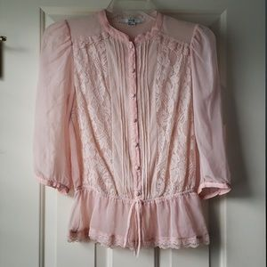 Light pink chiffon blouse size S from forever 21